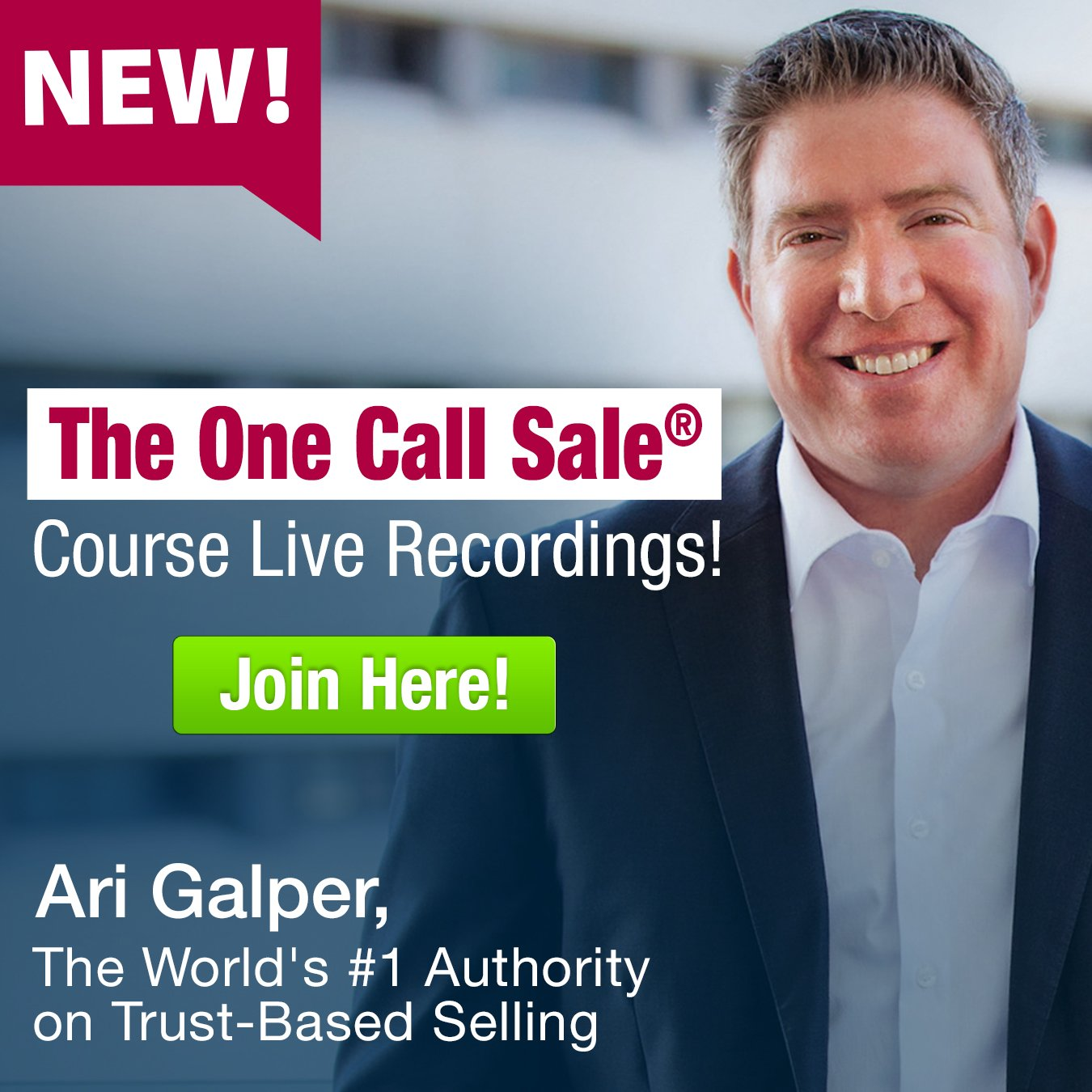 Ari Galper - One Call Sale